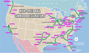 US High-Speed Rail Map